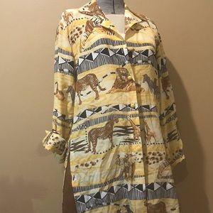 ESCADA- Long sleeve button up blouse